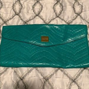 Ralph Lauren turquoise clutch